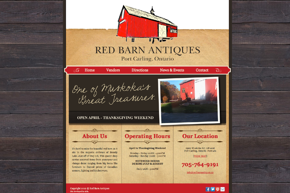 Red Barn Antiques Website