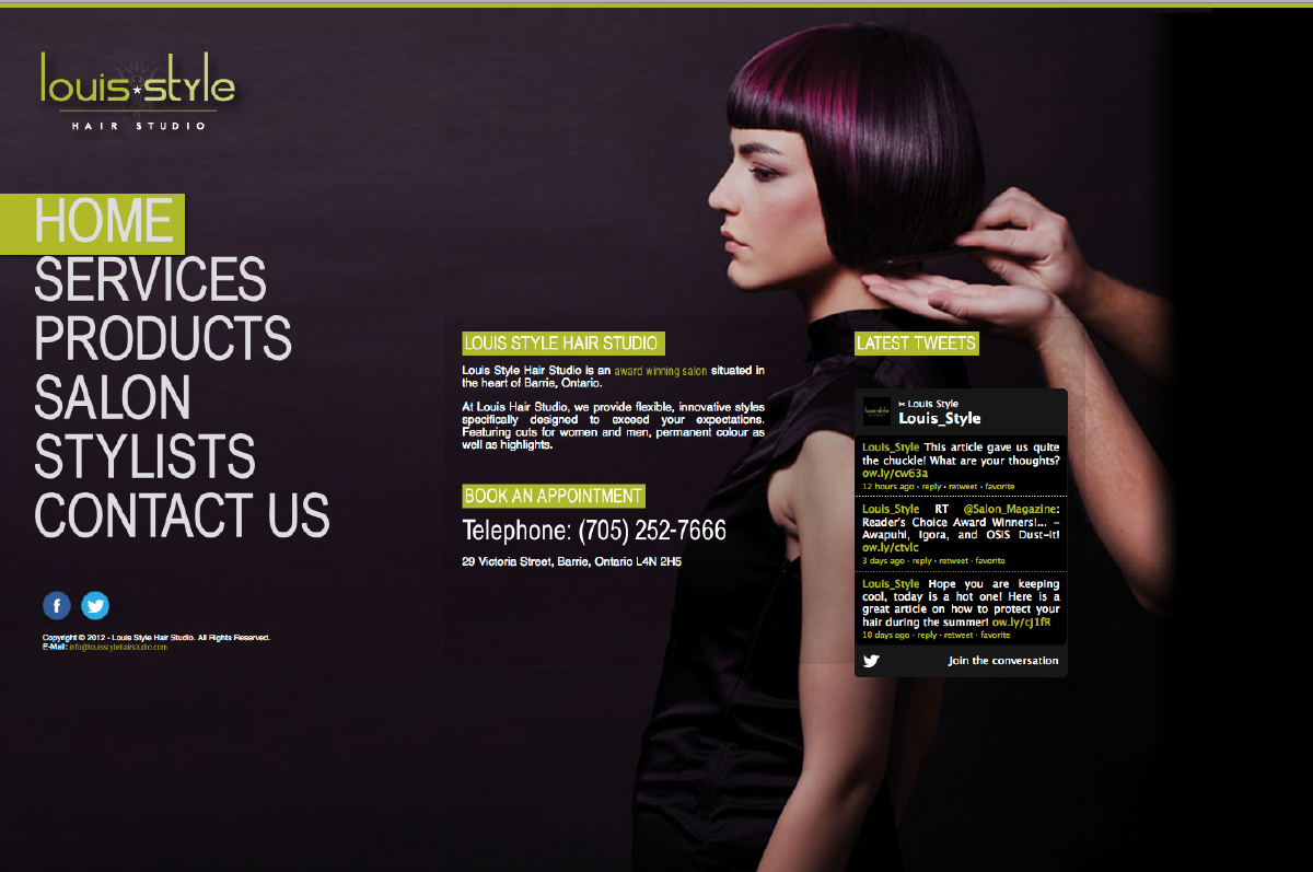 Louis Style Hair Studio Website